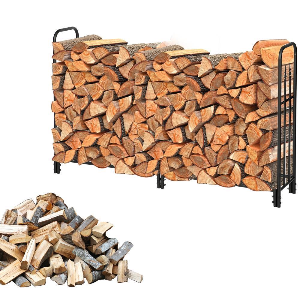 6 Foot Firewood Wood Lumber Storage Log Rack//Holder Indoor Outdoor Fireplace