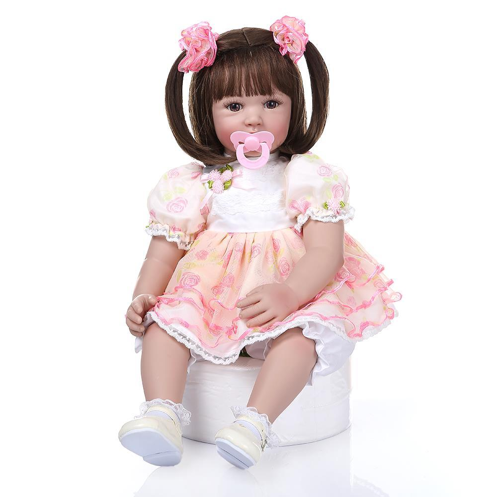 Cute 24/'/' Reborn Toddler Dolls Soft Vinyl Lifelike Baby Doll Boy Birthday Gifts