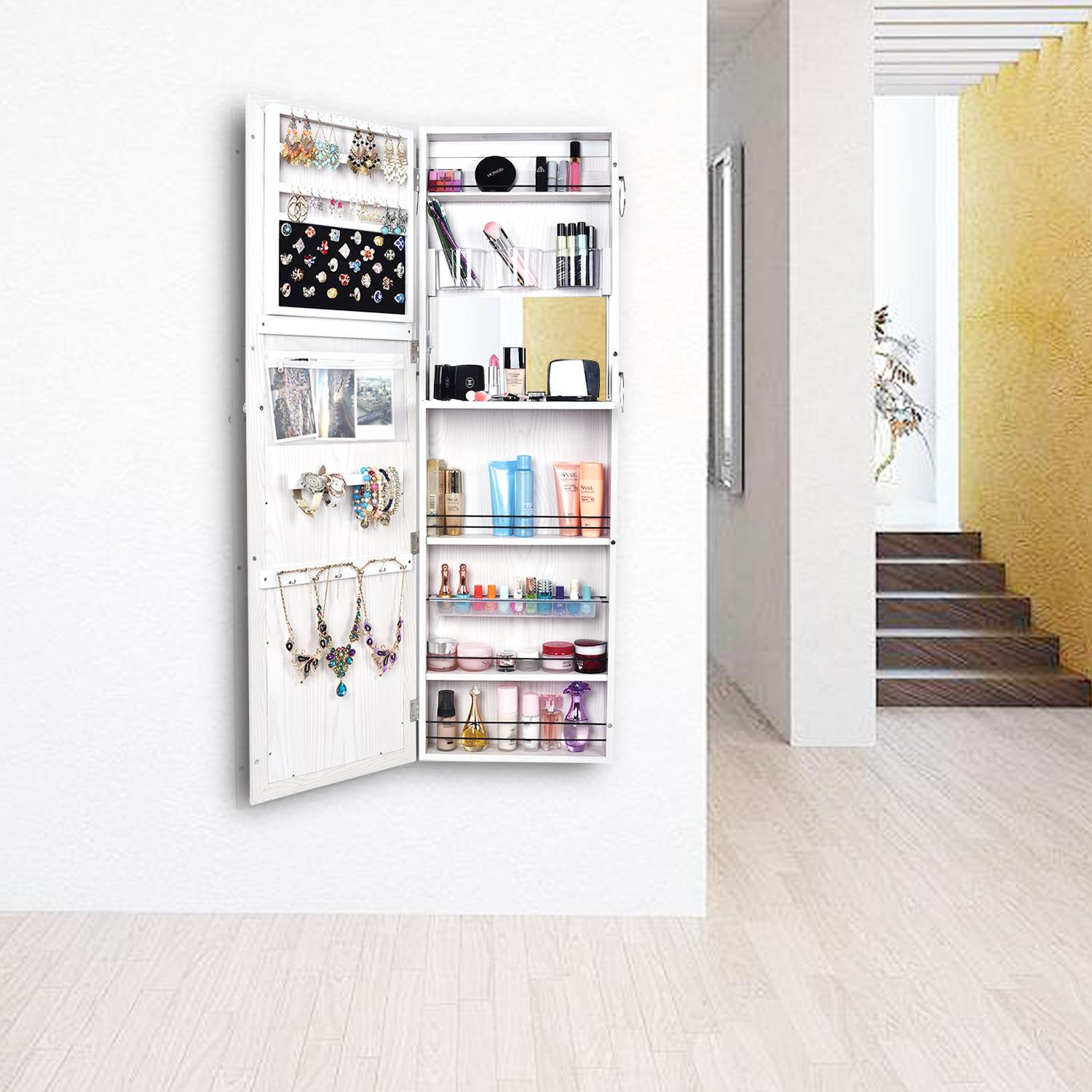 Solid Large Jewelry Mirror Cabinet Holder Wall/Door ...