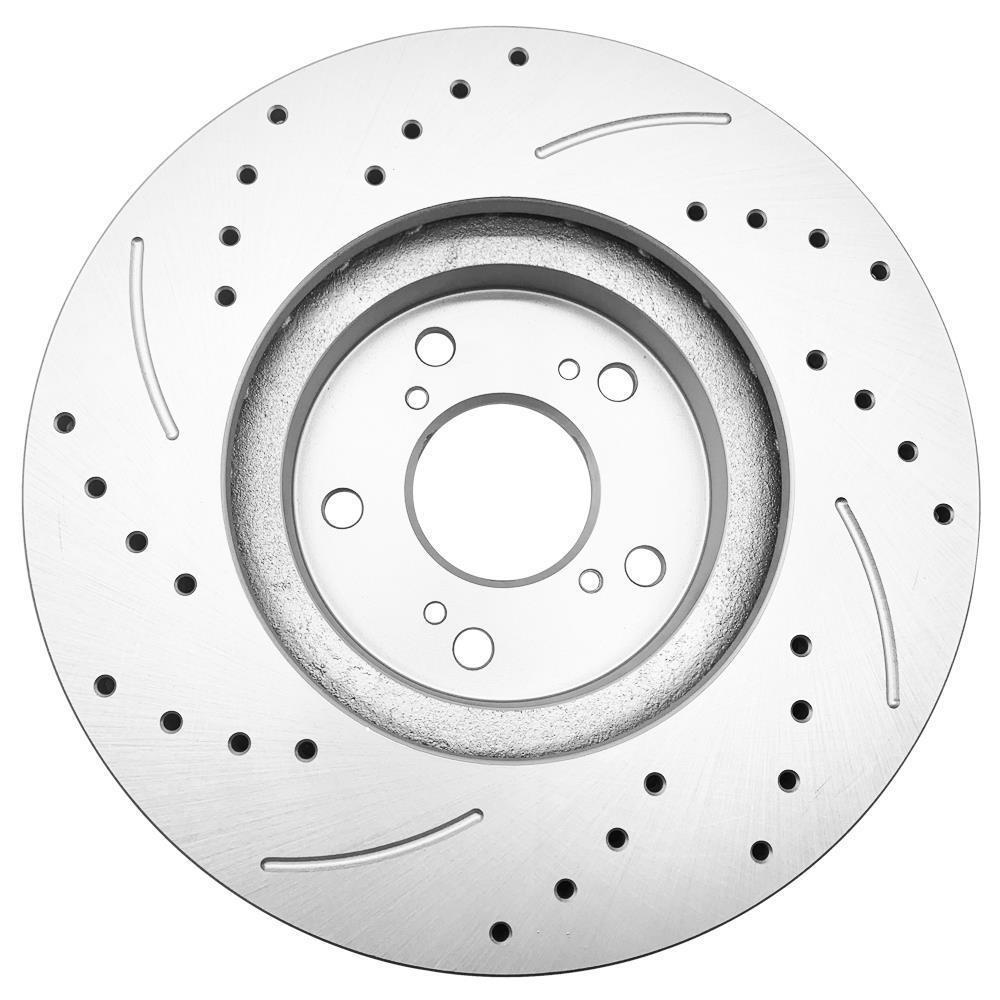 2 Pc Front Sliver Brake Disc Rotors For 2003 Acura TSX