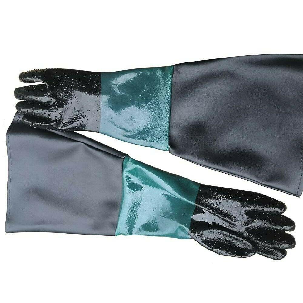 "24/"" Gloves for Sand Blasting Sandblast Cabinets Black"