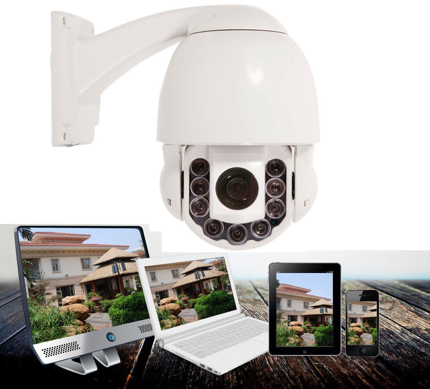 SONY CMOS 1200TVL HD Pan//Tilt Outdoor 30X Zoom PTZ IR Dome CCTV Camera Joystick