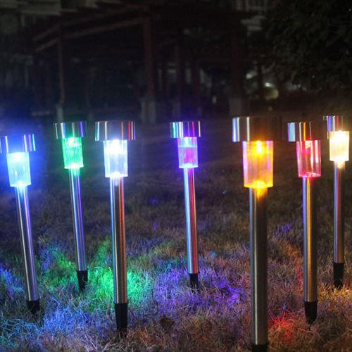 25pcs LED Solar Powered Stainless Steel Landscape Path Light Yard Garden Outdoor