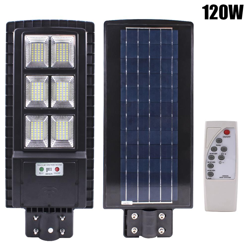 LED Solar Street Light 60W//90W//120W PIR Motion Sensor Outdoor Wall Lamp+Remote