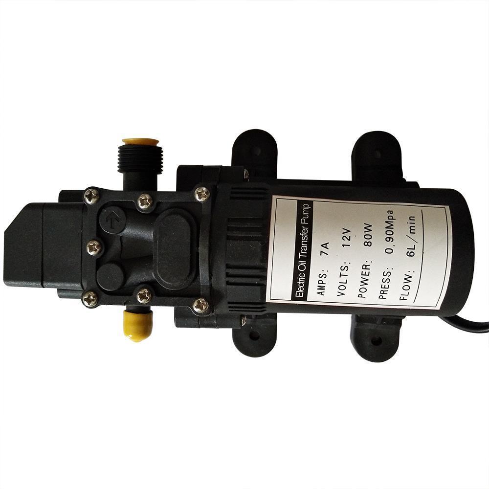 12V 60W Fuel Transfer Pump Oil Diesel Gas Gasoline Kerosene Extractor Black New