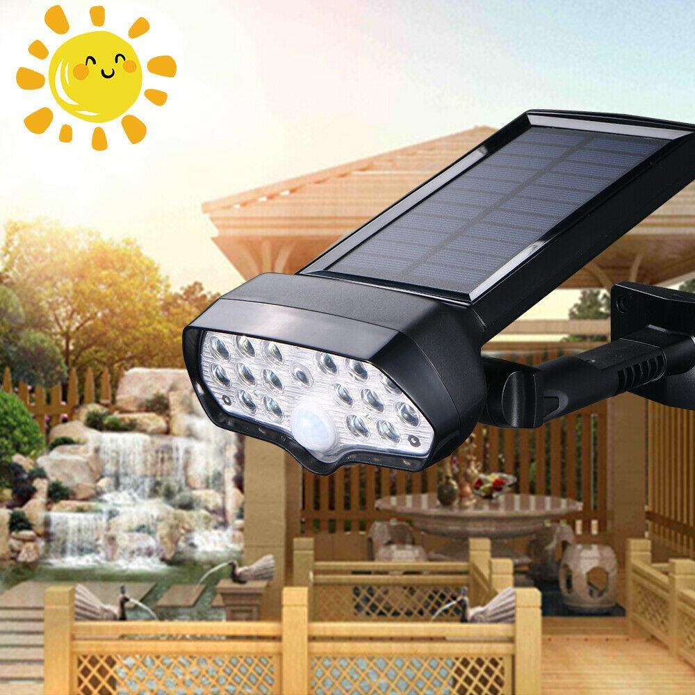 1X LED Solar Power Light PIR Motion Sensor Security Outdoor Garden Wall Lamp L