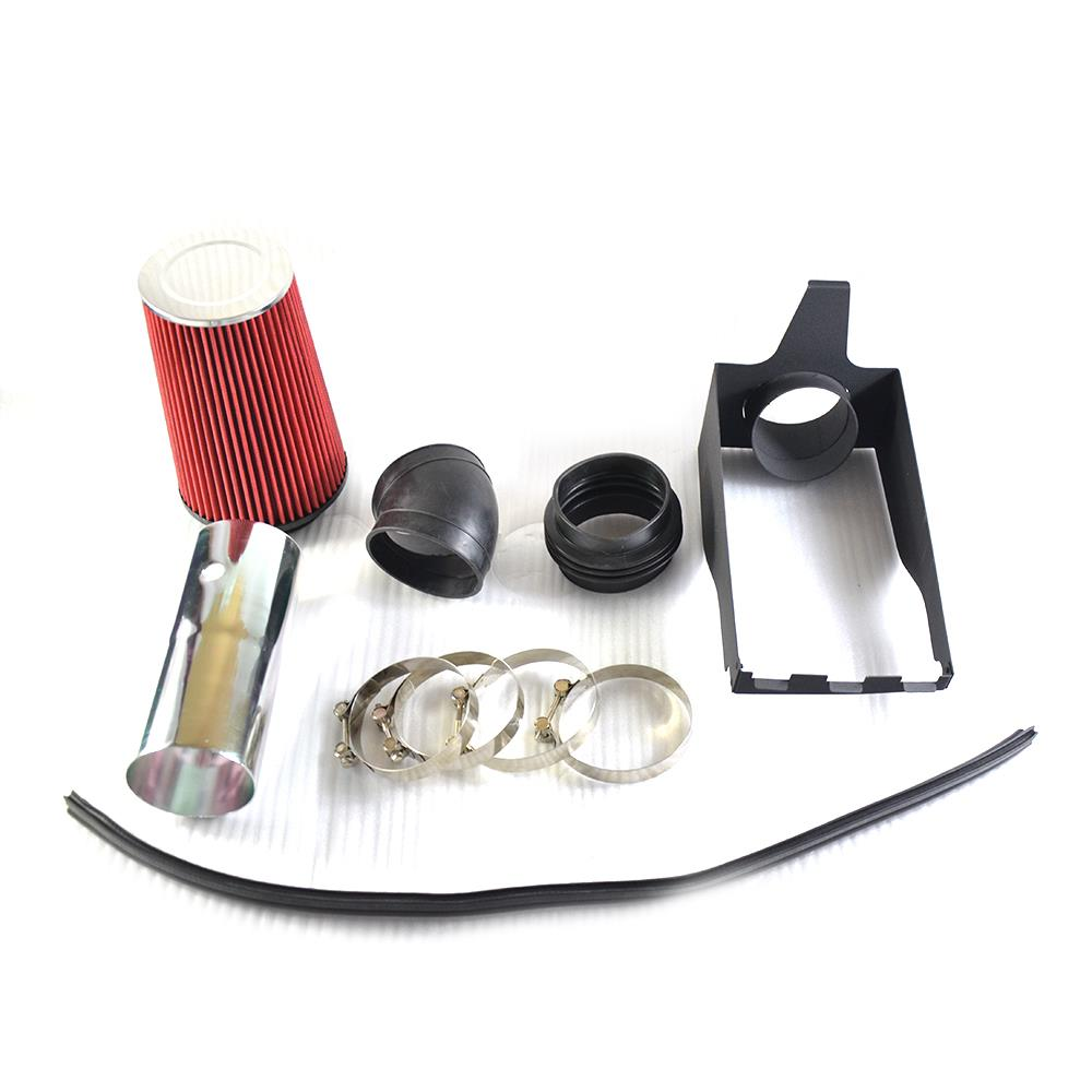 """Filter For 99-03 Excursion 7.3L Turbo V8 4/"""" RED Heat Shield Cold Air Intake"""