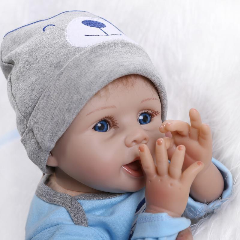 """55cm//22/"""" Lifelike Reborn Baby Boy Doll Silicone Vinyl Newborn Realistic Doll"""