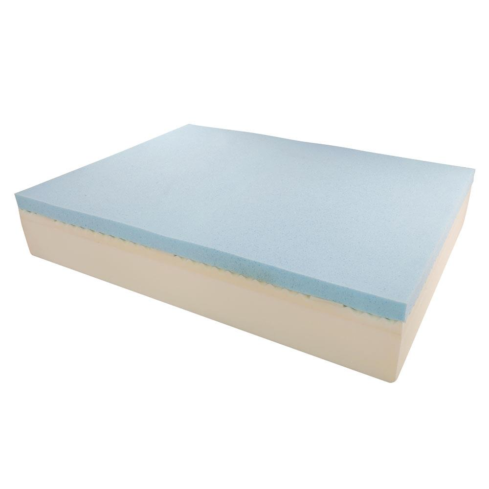 Three Layers 14-inch Queen Thick Silicon Memory Foam ...