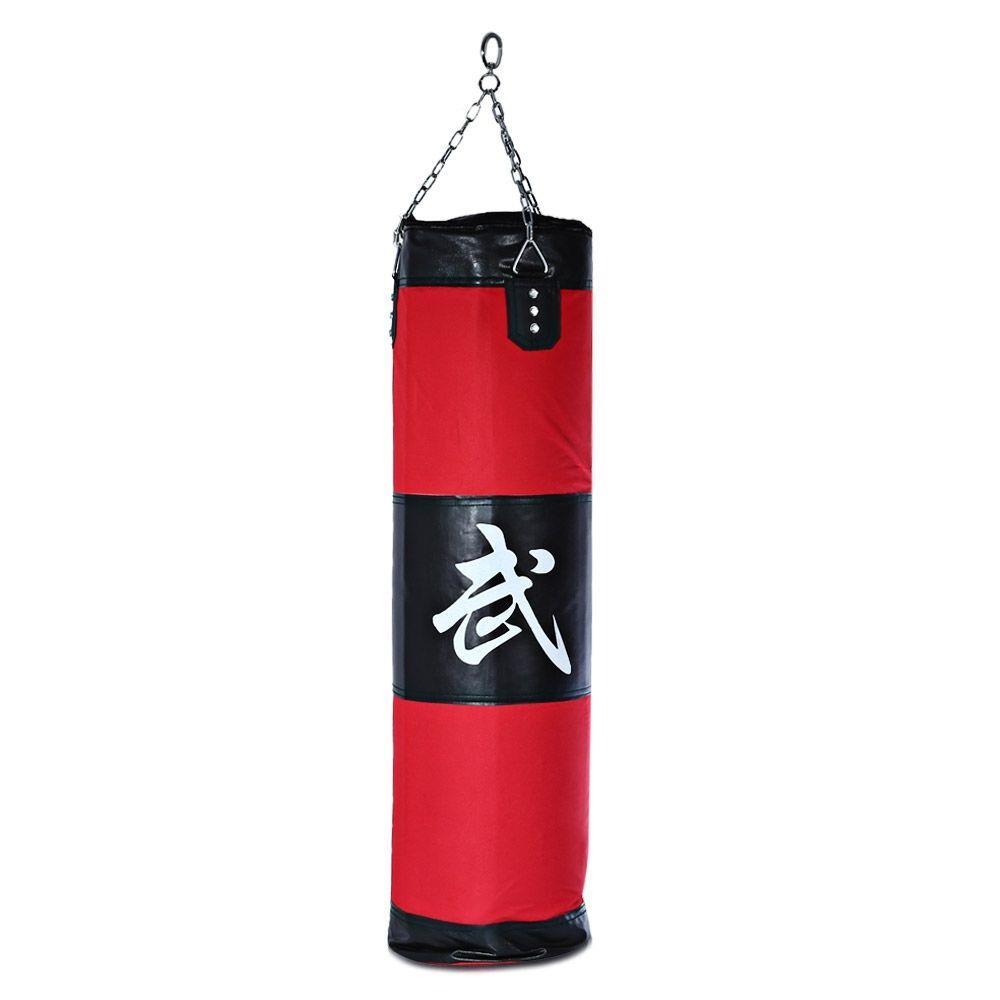 US Heavy Boxing Punching Bag Training Gloves Speed Set Kicking MMA Workout Empty