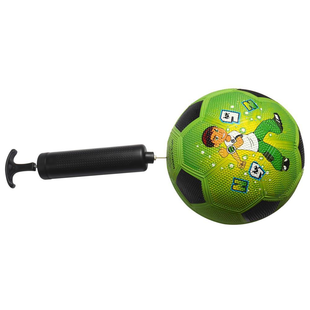 "Hand Air Pump 8/""  Basketball Football Soccer Ball Pool Toys Black w// 5 Needles"