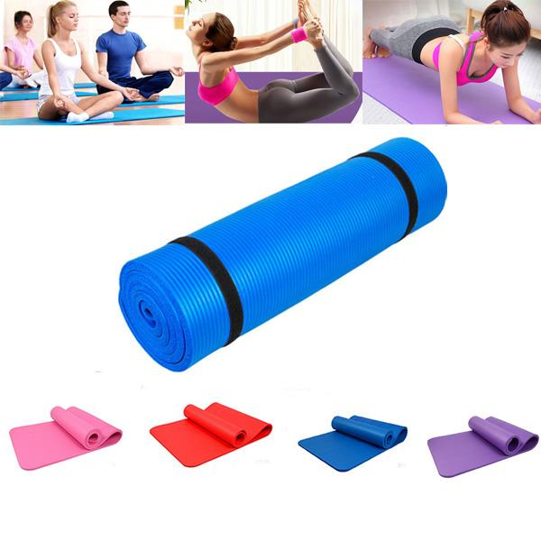 Extra 8mm Thick Exercise Mat Yoga Gym Workout Fitness Gymnastics Mats Large Pad 3