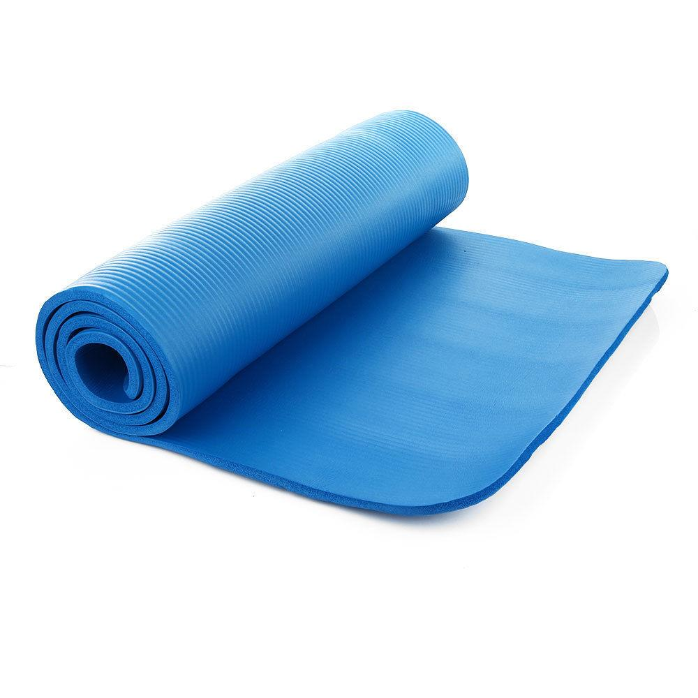 72in x 24in 10mm Yoga Mat Exercise Washable Meditation Gym Pad w/Carry strap 11