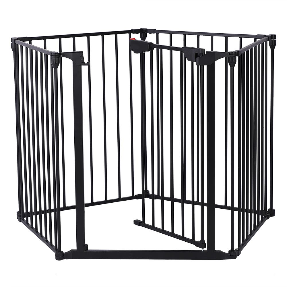 5//6 PC Fireplace Fence Baby Safety Fence Hearth Gate BBQ Metal Fire Gate Pet Cat