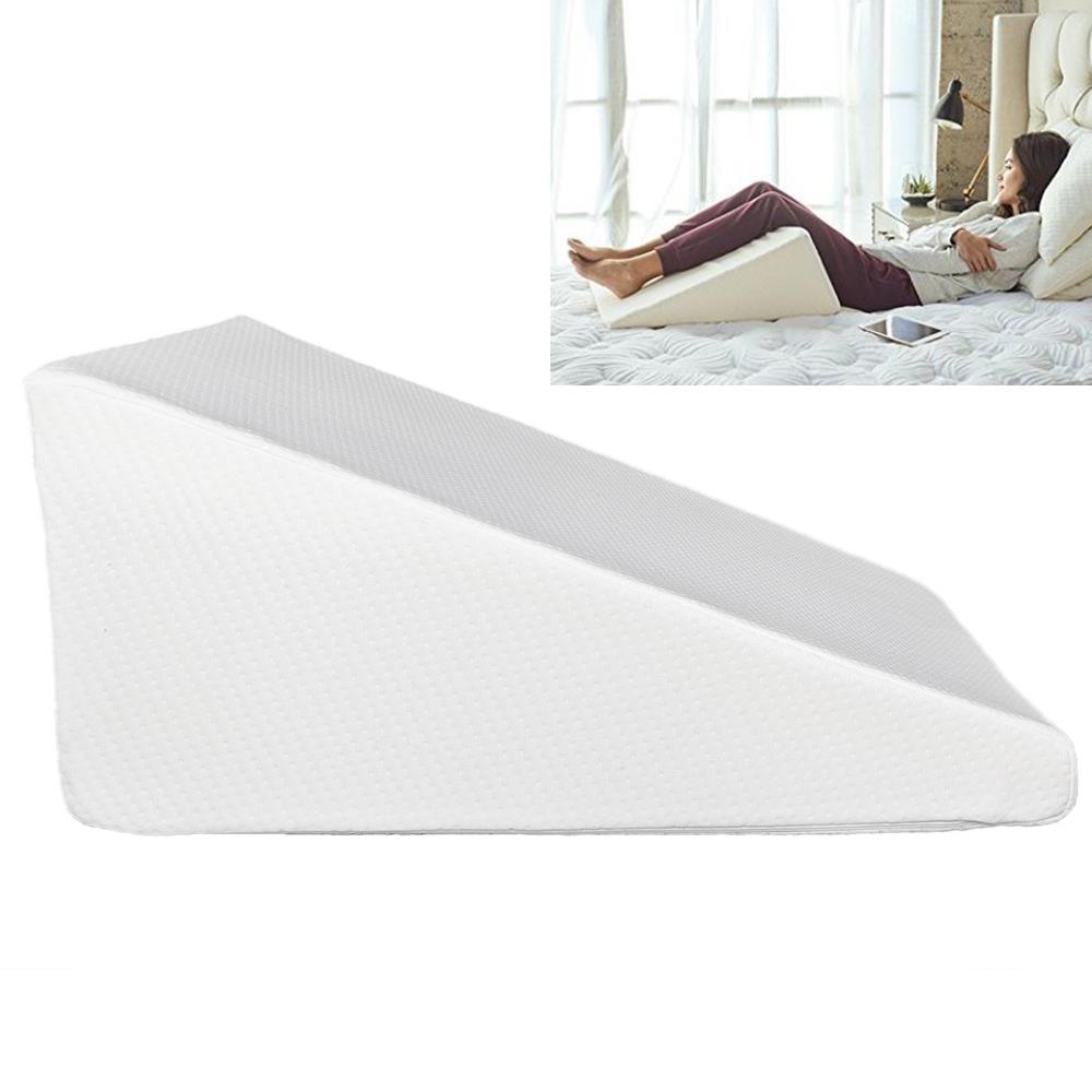 Folding Bed Wedge Pillow Foam Body Positioner Elevate support Back Neck Pain New
