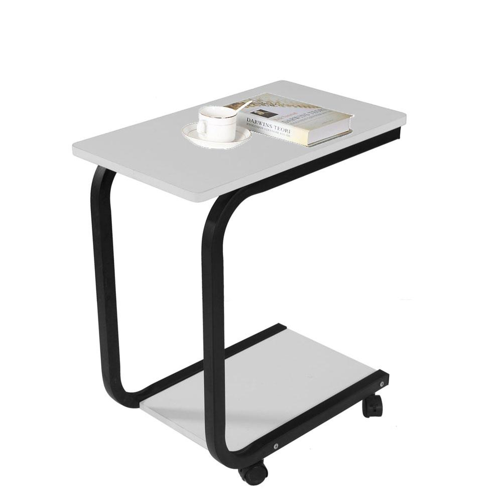 - Wood Coffee Tray TV Snack Dinner Sofa Side End Stand Laptop Rolling Table  White EBay