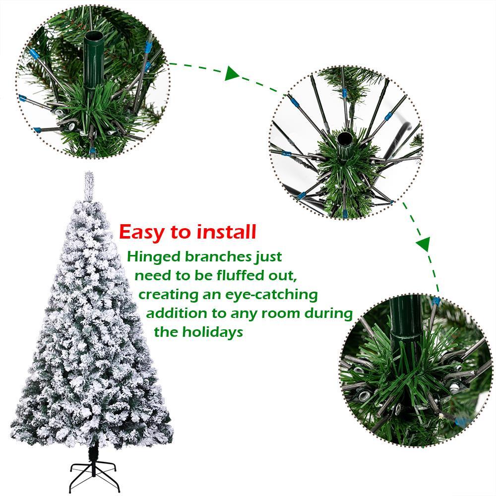 7Ft PVC Artificial Slim Pencil Christmas Tree w/ Stand ...