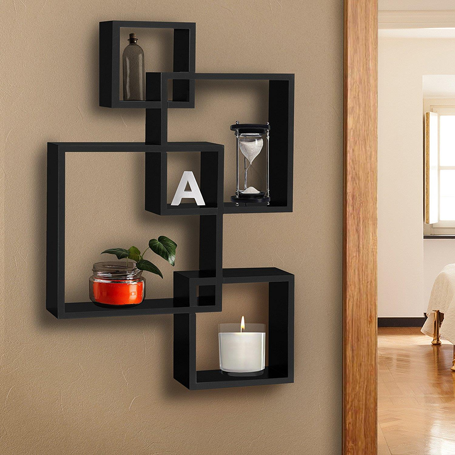 Details About Wooden Modern Storage Rack Wall Mounted Home Floating Shelf Organizer Decor
