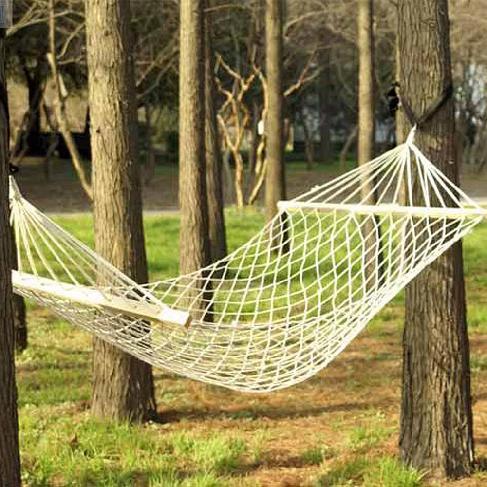 FREE SHIPPING 2 Person Cotton Rope Hammock