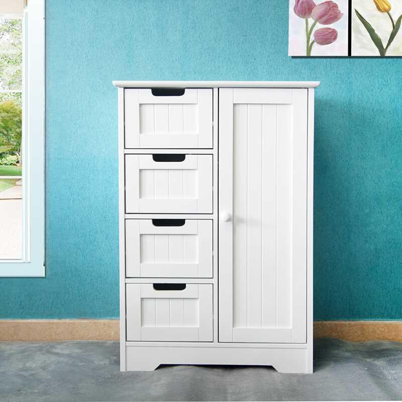 Details about 4 Drawer Dresser Shelf Cabinet Storage Home Bedroom Furniture  White