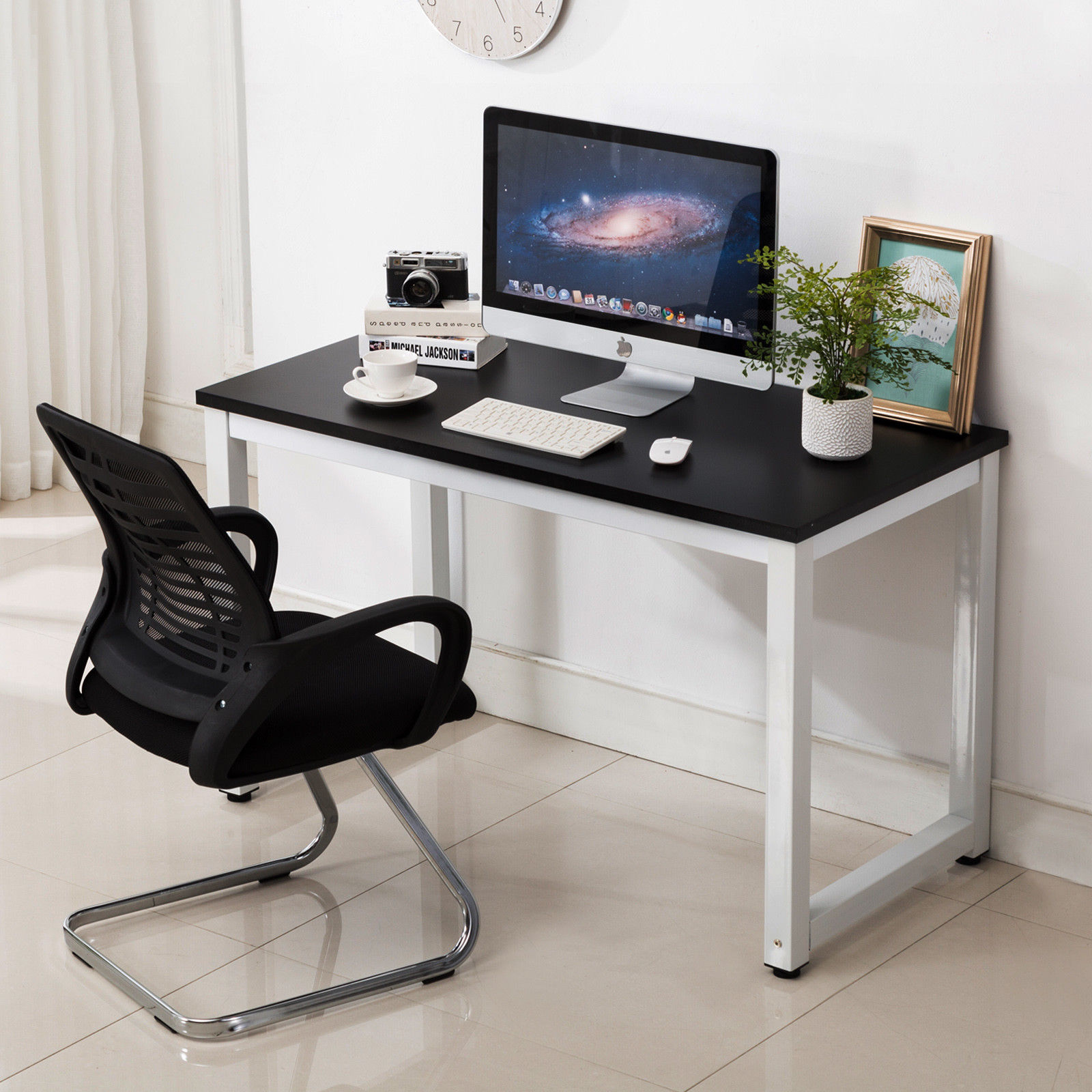 Details About Computer Desk Pc Laptop Table Workstation Writing Table Wood Office Furniture