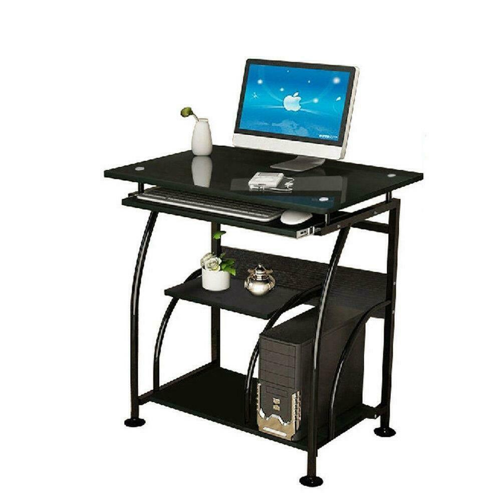 - Mobile Desktop Computer Desk Small Space Saver Desk Laptop PC