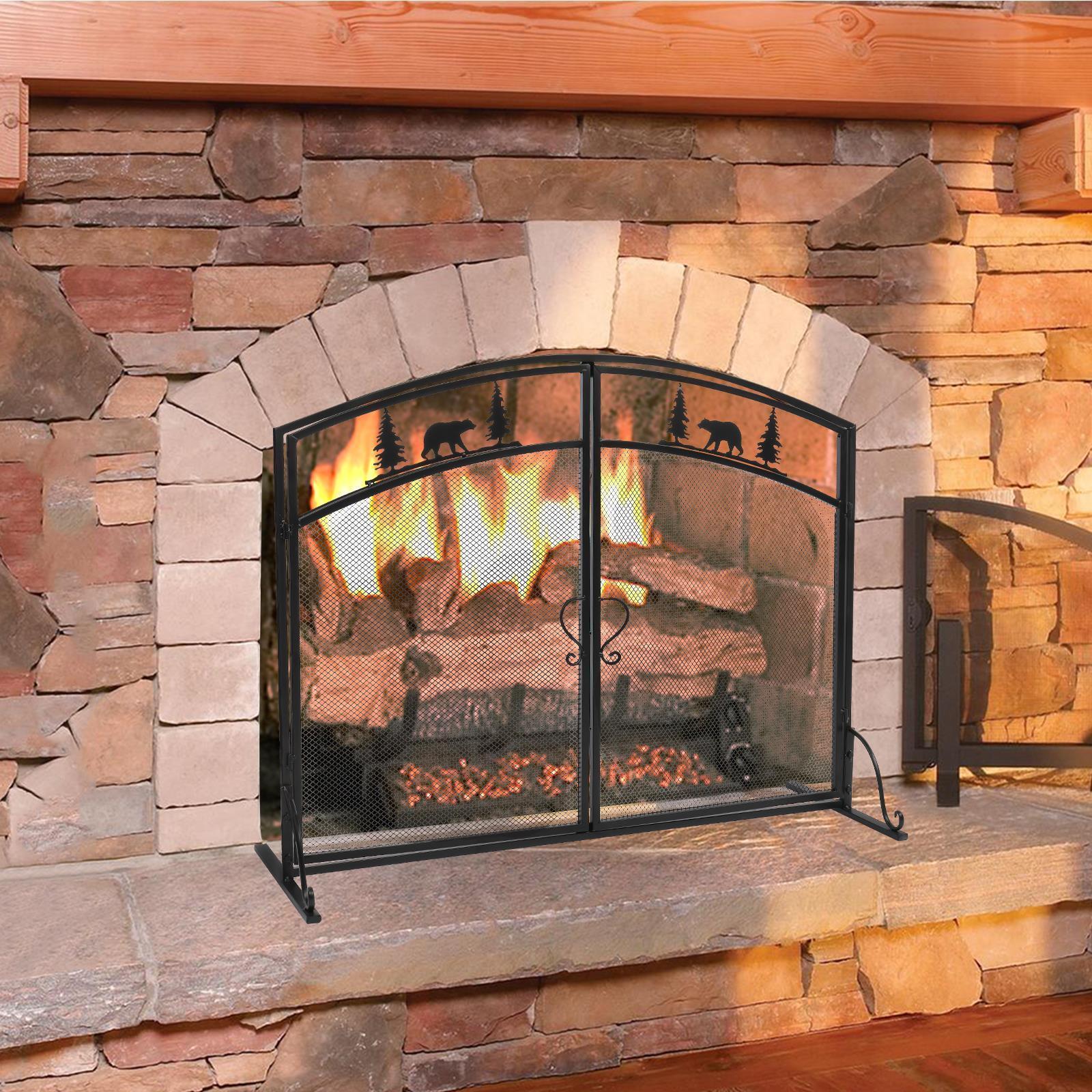 39 Single Panel Wrought Iron Fireplace Screen Decorative Fireplace Screen New Ebay