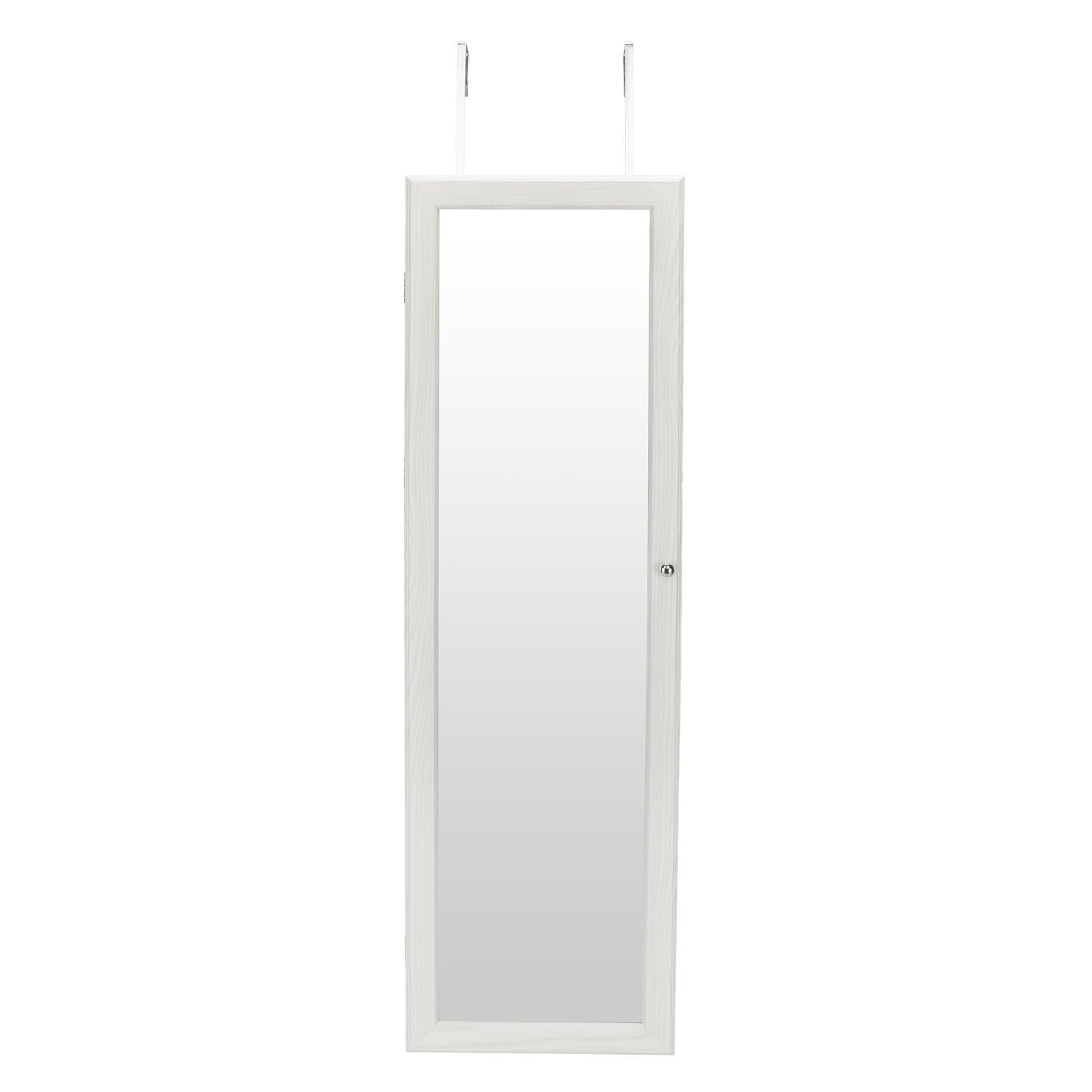 """Hot Sale 47"""" Mirror Jewelry Cabinet Armoire Holder Wall ..."""