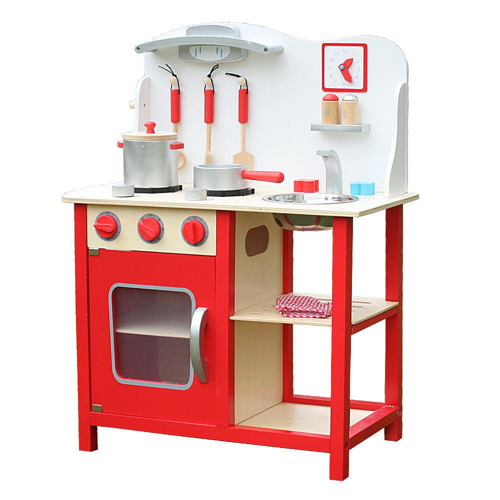 Details about Kids Wooden Kitchen Playset, Kids Wood Toy, Little Chef  Pretend Cooking Play Set