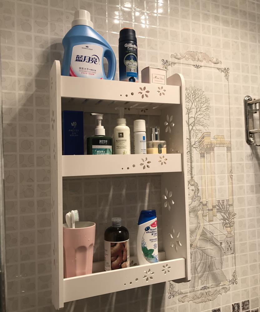 Bathroom Cabinet Storage Espresso Wall Mount Over Toilet 3 Tiers Shelves Rack