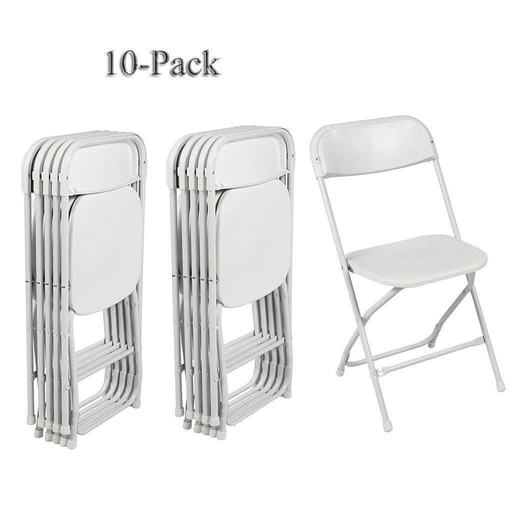 Details About 10pcs High Quality Comfort Portable Plastic Folding Chairs In Home Office White
