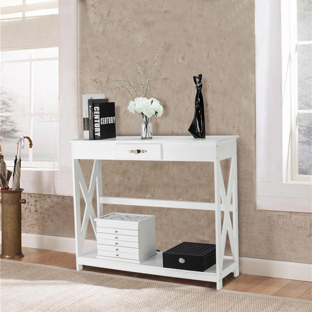 Details about Modern Console Table Entryway Table Sofa Table Living Room  Table with Drawer