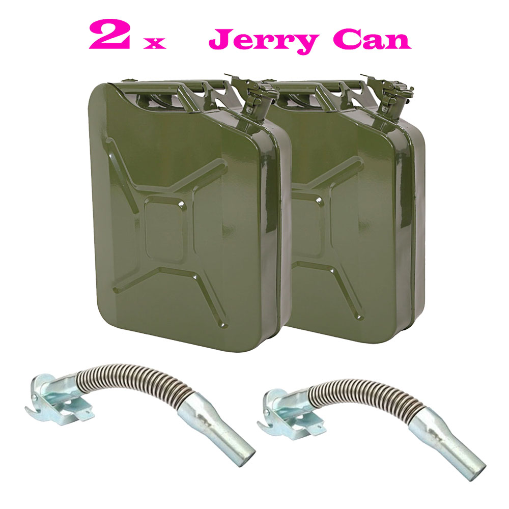 METAL JERRY GERRY CAN POURING SPOUT FLEXIBLE NOZZLE PETROL SILVER FUEL SEAL