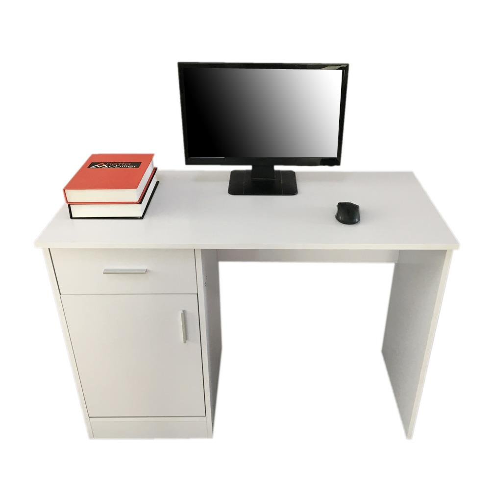 USA Computer Desk Office Workstation Laptop PC Table with 2 Drawer Cabinet