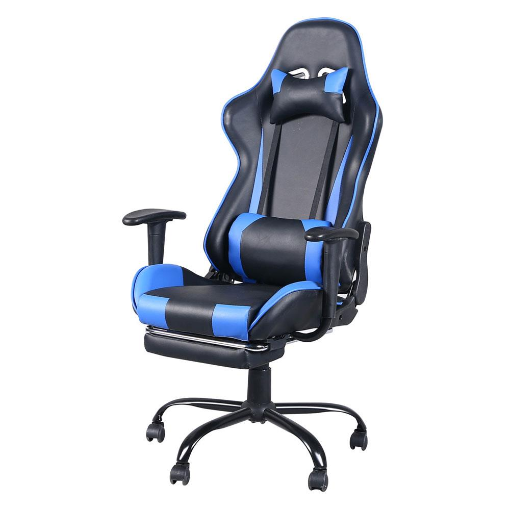 Details about High Back Swivel Racing Car Style Gaming Chair Office Desk  Chair Blue