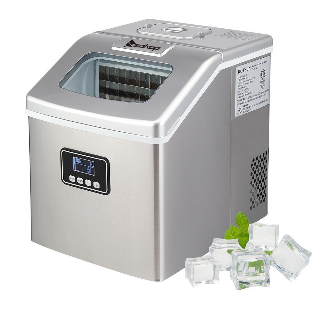 Zokop 40 Lbs Portable Electric Ice Maker Countertop Ice Cube Compact Machine Ebay